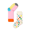 Happy Socks-  2 Pack of Colorful Polka Dot Socks For Baby Girls & Toddlers